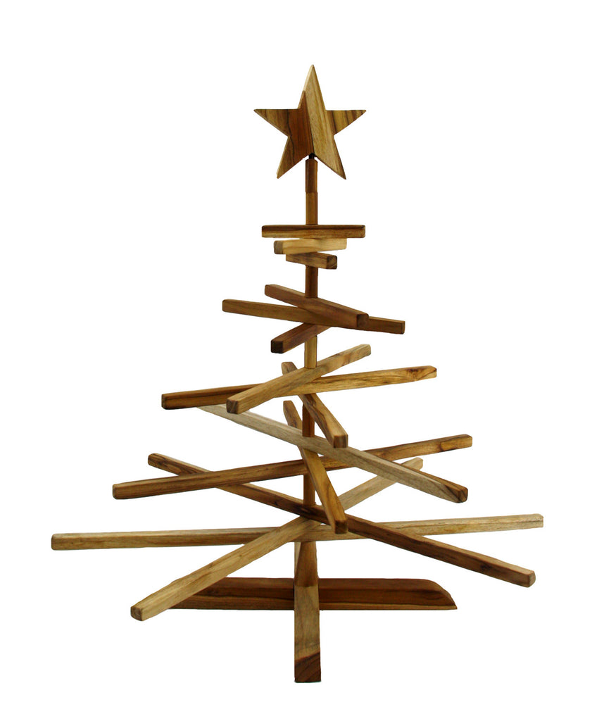 Large Teak Ornament Display Tree - Guatemala