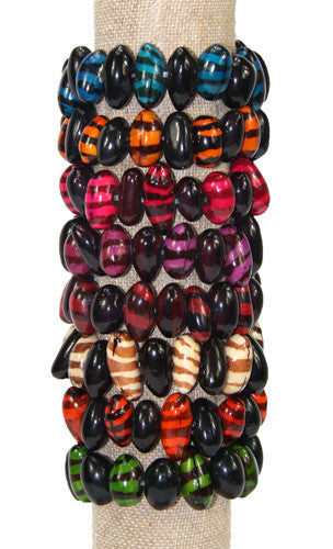 Tiger Bracelet Multi-color Assortment of 8  - Colombia