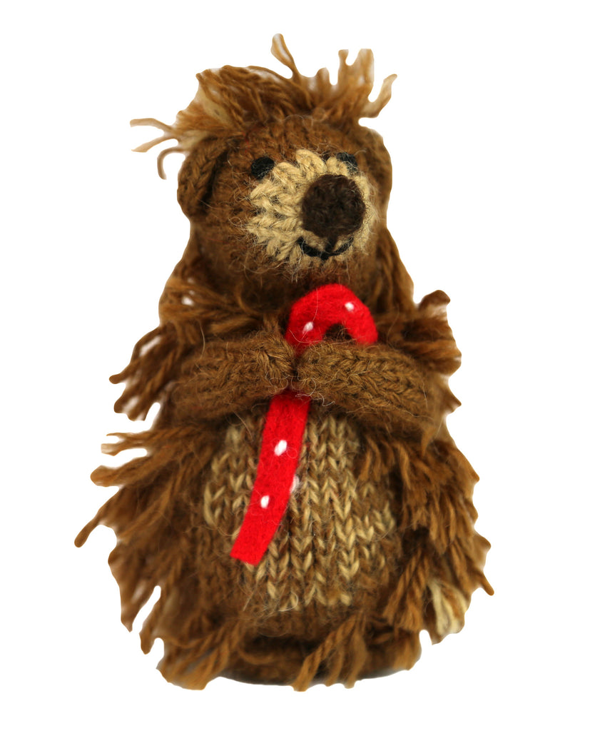 Alpaca Woodland Hedgehog Ornament - Peru