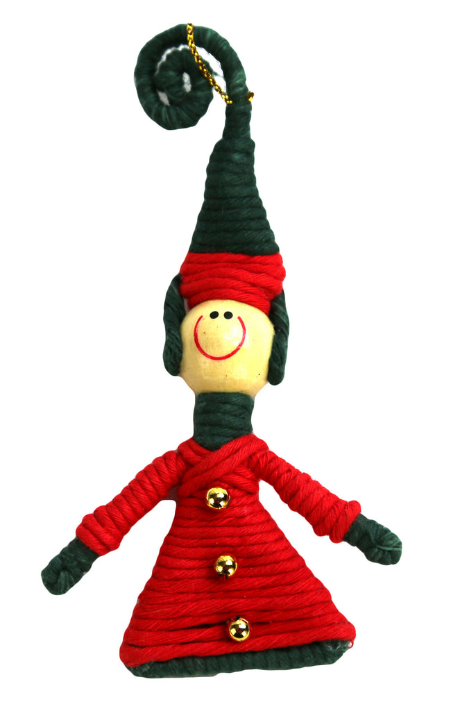 Yarn Elf Ornament - Colombia