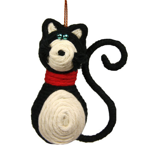 Yarn Kitty Cat Ornament - Colombia