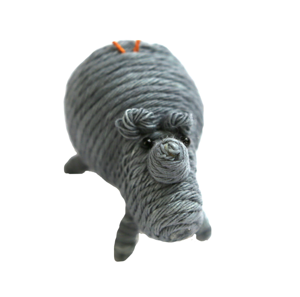 Yarn Rhino Ornament - Colombia