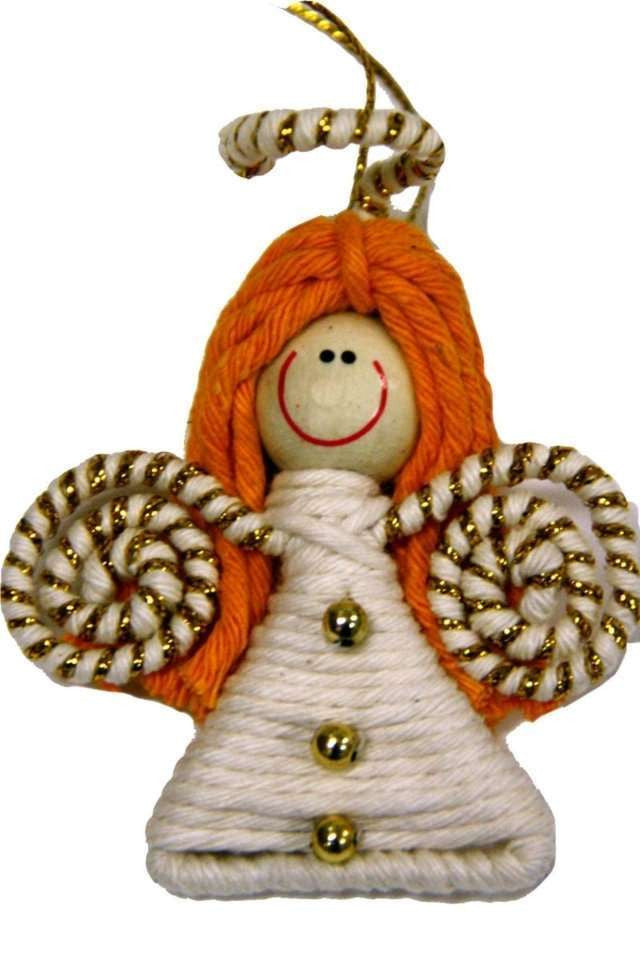 Yarn Angel Ornament - Colombia