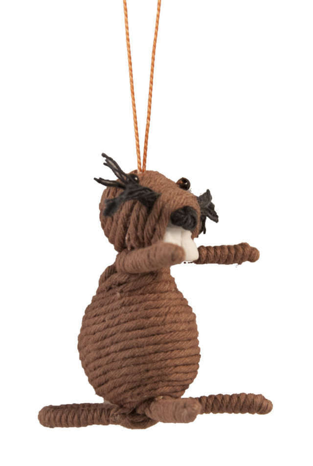Yarn Beaver Ornament - Colombia