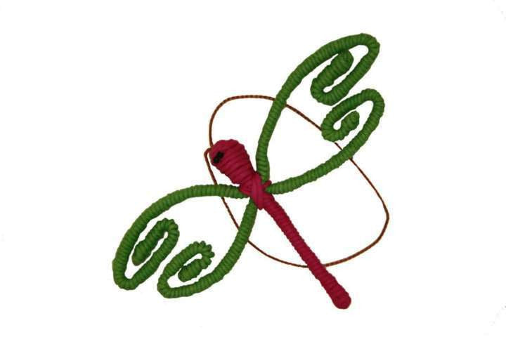 Yarn Dragonfly Ornament - Colombia