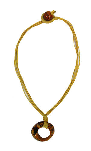 Pebble Tagua Necklace Yellow - Colombia