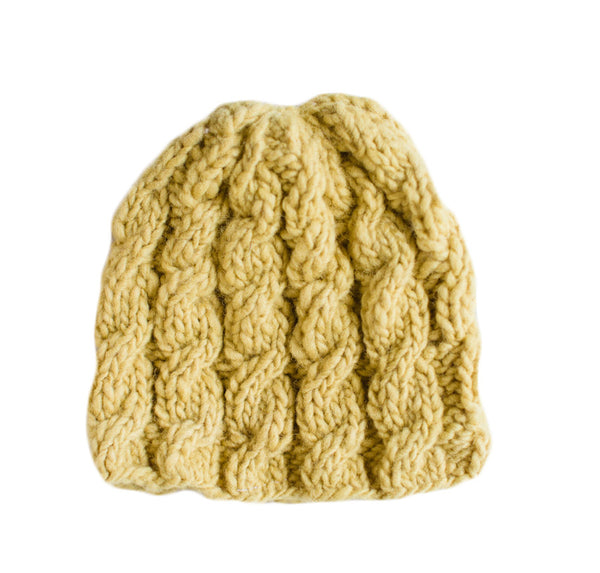 Ray of Sun Yellow Knit Baby Hat - Rwanda