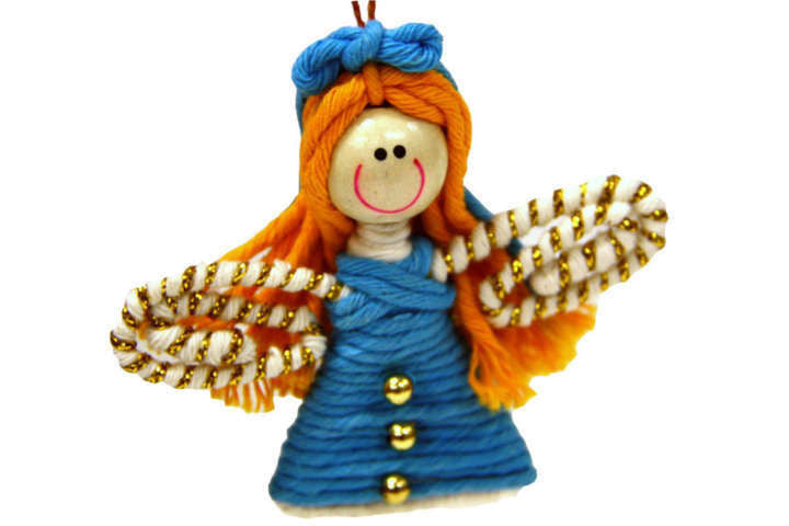Yarn Fairy or Angel Ornament - Colombia