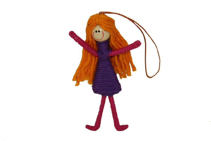 Yarn Girl Ornament - Colombia