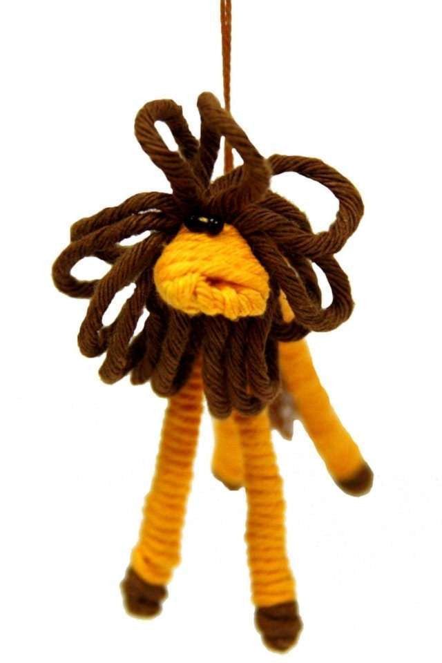 Yarn Lion Ornament - Colombia