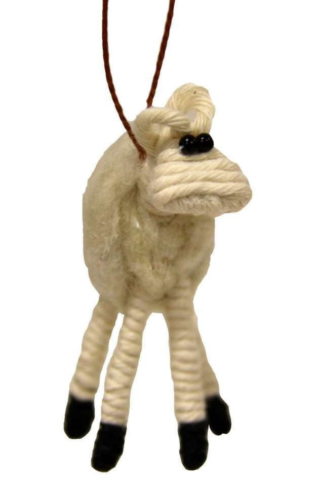 Yarn Sheep Ornament - Colombia