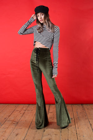 Stevie Flared Trousers - Olive
