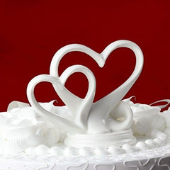 """You're the Top"" Interlocking Double Hearts Cake Topper"
