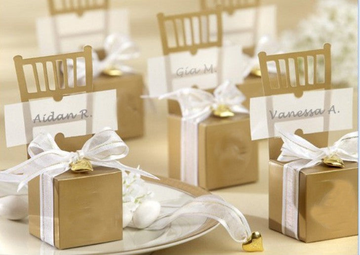 Gold Chair Candy Favor Box