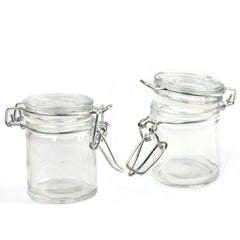Cylindrical Clear Glass Jar