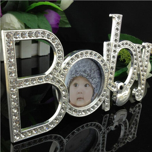 "Metal Zinc Alloy Children Frames "" Inlaid's Diamonds """