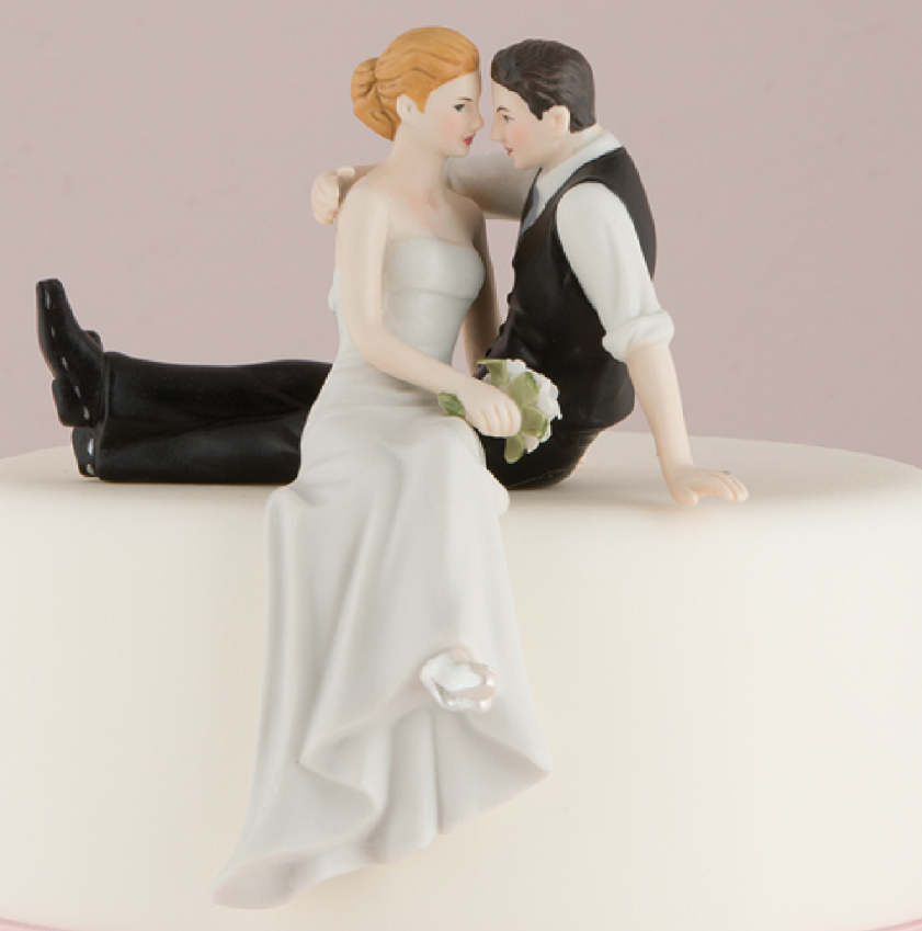 "The Look Of Love"" Bride And Groom Cake Topper"