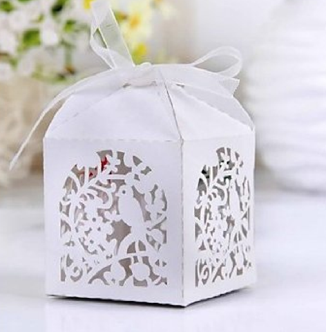 Bird Laser Cut Favor Boxes