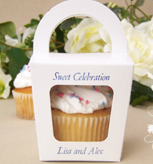 Single Cupcake Favor Box with Handle