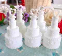 White Cake Wedding Bubble Bottle Soap Water Bottle