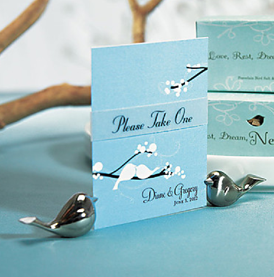 Love Bird Place Card Holders