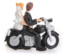 Motorcycle Get Away Cake Topper
