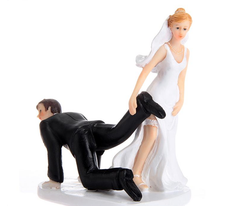 Dragging The Groom Cake Topper