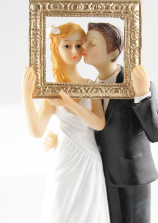 Classic Couple Frame Cake Topper