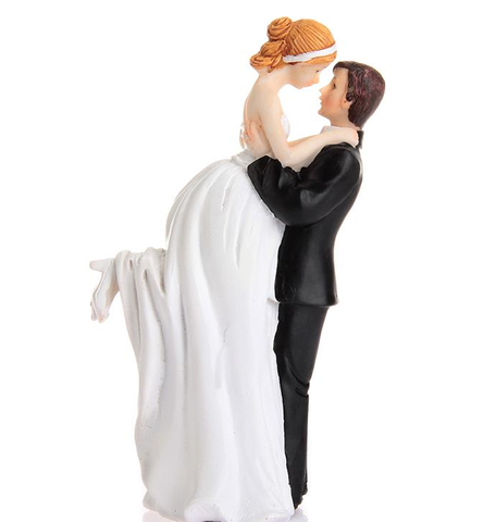 """Love Swept"" Bride & Groom Cake Topper"