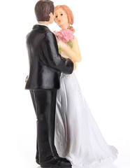 "Start The Match""Resin Bride and Groom Cake Topper"