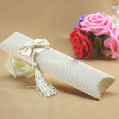 Elegant Pillow Favor Box with Tassels