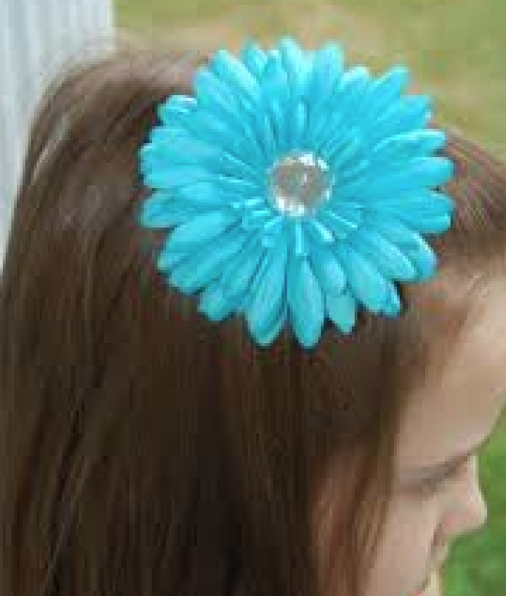 Gerbera Daisy Party Flower Clip Hair Accessories