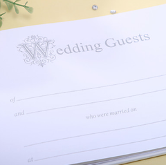 Wedding Ceremony Sets of Guestbook, Pen Set, Flower Basket, Ring Pillow and Garters