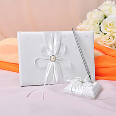 Eternity Wedding Guest Book and Pen Set