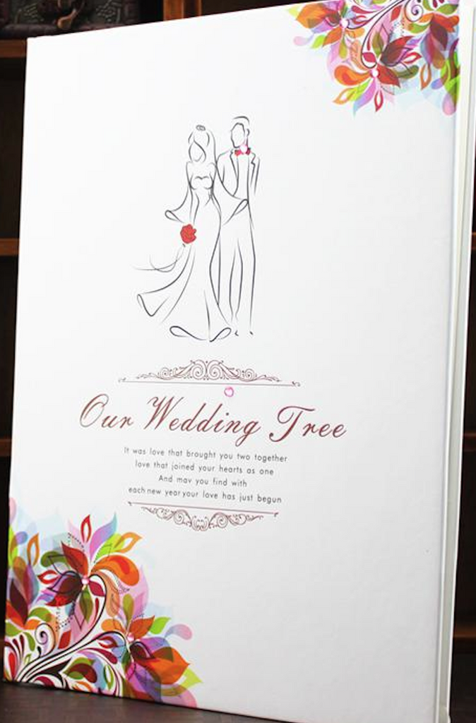 Happy Wedding Fingerprint Signature Guestbook