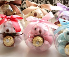 Assorted Crystal Ball Candy  Round Gift Boxes
