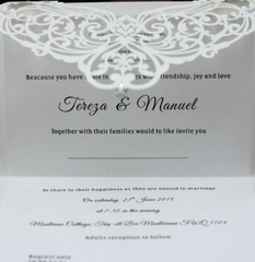 Classic Style Wedding Invitations Cards Custom With Rhinestone