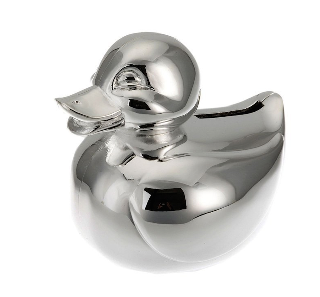 Swan Silver Plated Money Bank