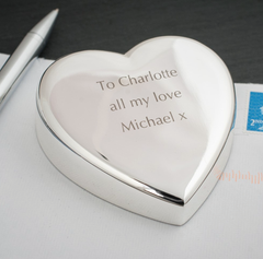 Silver Plated Heart Shape Paperweight