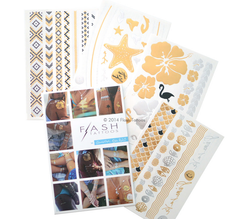 Authentic Goldfish Kiss H20 Flash Tattoos