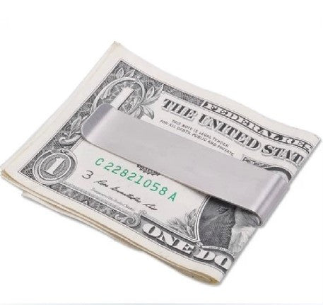 Stainless Silver Double Sided Slim Money Clip