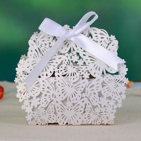 Butterfly & Flower Laser Cut Favor Candy Box