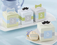 "Moustaches "" My Little Man "" Favor Candy Box"