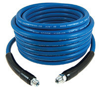 HOSE A PRESSION 25FT SMOOTH BLUE COVER  WITH QUICK COUPLINGS ATTACHED 119B-06CST25