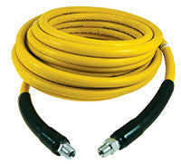 HOSE A PRESSION 100FT SMOOTH YELLOW ABRASION RESISTANT WITH QUICK COUPLINGS ATTACHED 119Y-06CST100