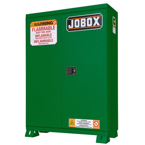 JOBOX 1-854670 30 Gallon Heavy-Duty Self-Closing Safety Cabinet (Green)