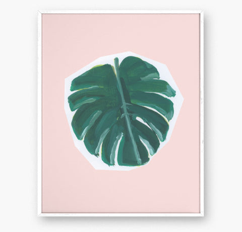 MONSTERA - Art print - 8x10 WS
