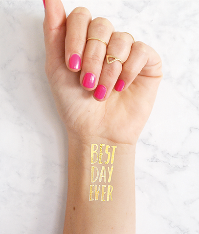Best day ever wedding tattoo