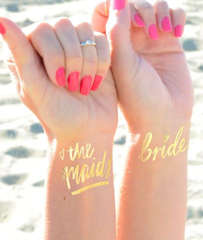 Bridesmaid favor, bridesmaid tattoo