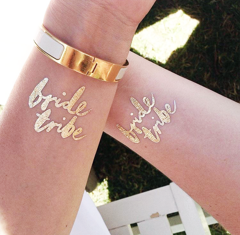 'Bride Tribe' Bachelorette Tattoos Set of 12
